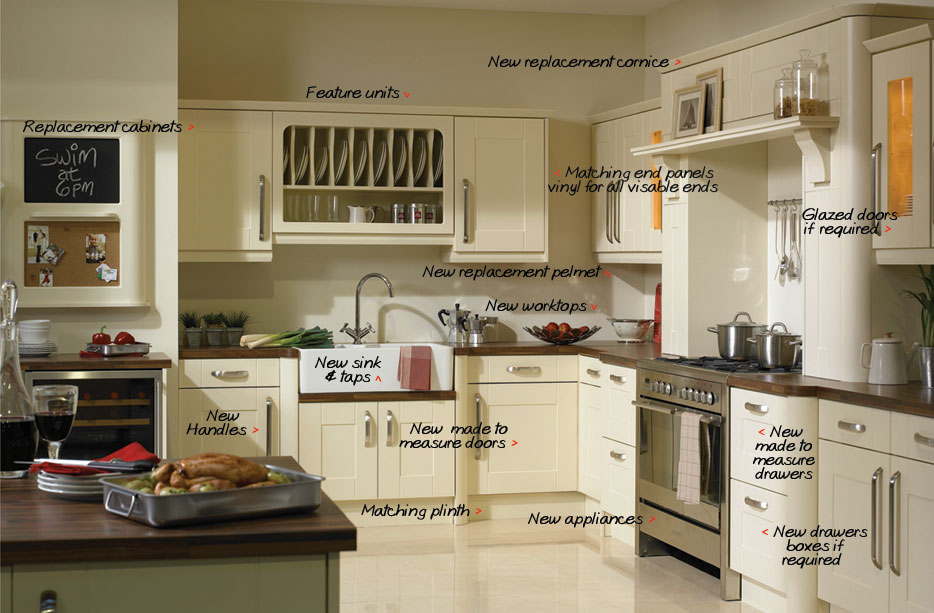 KITCHENS UPDATES OFFER MADE TO MEASURE REPLACEMENT KITCHEN DOOR - Kitchen door replacements